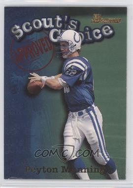 1998 Bowman - Scout's Choice #SC1 - Peyton Manning