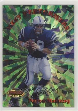 1998 Bowman's Best - Performers - Atomic Refractors #BP1 - Peyton Manning /100