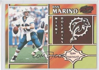 1998 Pacific - Team Checklists #15 - Dan Marino