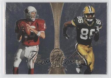 1998 Playoff Absolute Retail - Platinum Quads #10 - Jake Plummer, Antonio Freeman, Warren Moon, Steve McNair