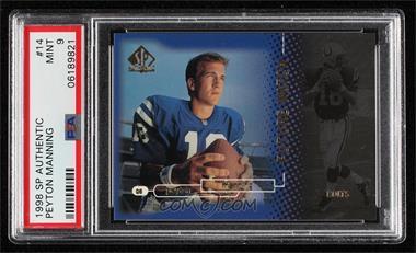 1998 SP Authentic - [Base] #14 - Peyton Manning /2000 [PSA9MINT]