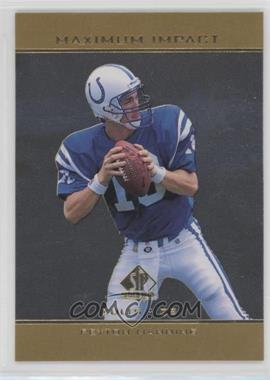 1998 SP Authentic - Maximum Impact #SE11 - Peyton Manning