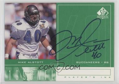 1998 SP Authentic - Player's Ink #MA - Mike Alstott