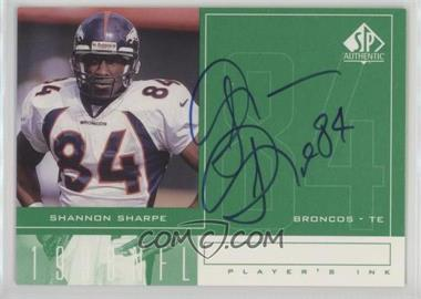 1998 SP Authentic - Player's Ink #SS - Shannon Sharpe
