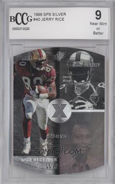 1998 SPx - [Base] - Silver #40 - Jerry Rice [ENCASED]