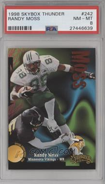 1998 Skybox Thunder - [Base] #242 - Randy Moss [PSA 8 NM‑MT]