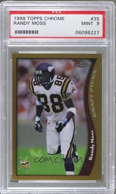 1998 Topps Chrome - [Base] #35 - Randy Moss [PSA 9]