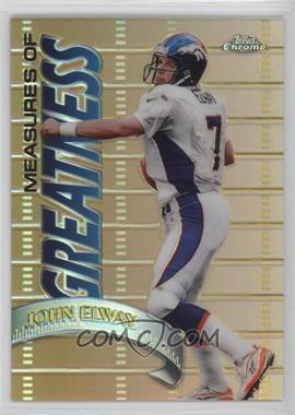 1998 Topps Chrome - Measures of Greatness - Refractor #MG1 - John Elway