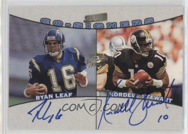1998 Topps Stadium Club - Co-Signers #CO10 - Ryan Leaf, Kordell Stewart