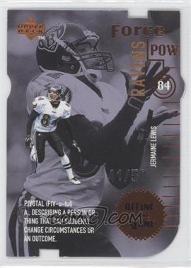 1998 Upper Deck - Define the Game - Bronze Die-Cuts #DG18 - Jermaine Lewis /50