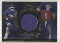 Ike Hilliard, Gary Brown, Joe Montgomery, Kerry Collins [EX to NM]