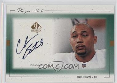 1999 SP Authentic - Player's Ink #CH-A - Charlie Batch