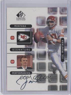 1999 SP Signature Edition - Joe Montana Signature Performances #J10A - Joe Montana