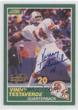 1999 Score - 10th Anniversary Reprints - Autographs [Autographed] #224 - Vinny Testaverde /1989