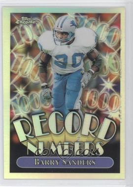 1999 Topps Chrome - Record Numbers - Refractor #RN4 - Barry Sanders