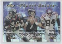 Terrell Davis, Randy Moss, John Elway (Refractor)