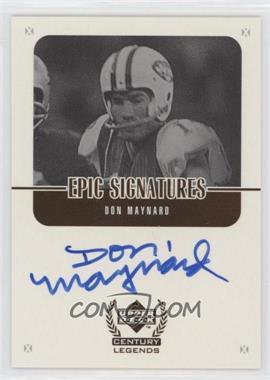 1999 Upper Deck Century Legends - Epic Signatures #MY - Don Maynard