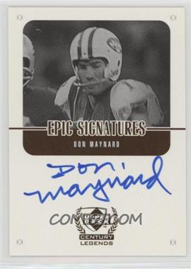 1999 Upper Deck Century Legends - Epic Signatures #MY - Don Maynard