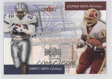 2000 Fleer Metal - Sunday Showdown #1 SS - Emmitt Smith, Stephen Davis
