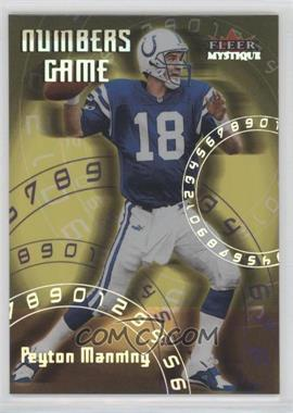 2000 Fleer Mystique - Numbers Game #2 NG - Peyton Manning