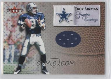 2000 Fleer Tradition - Genuine Coverage #TRAI - Troy Aikman