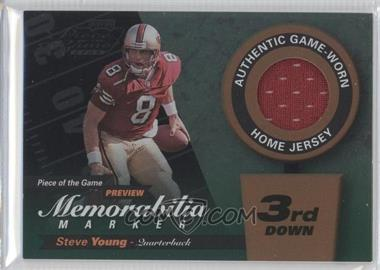 2000 Leaf Limited - Piece of the Game Preview Memorabilia Marker - 3rd Down #SY8-R - Steve Young /300