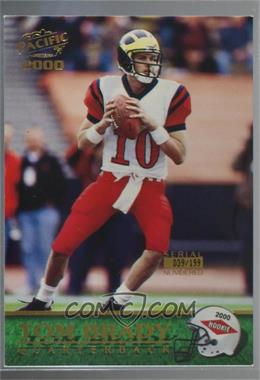 2000 Pacific - [Base] - Gold #403 - Tom Brady /199 [Noted]