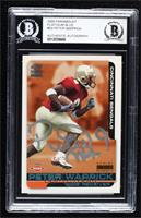 Peter Warrick [BAS Certified BAS Encased] #/75