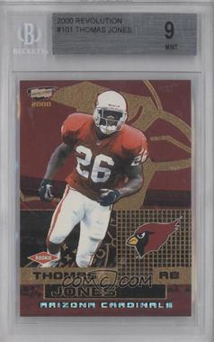 2000 Pacific Revolution - [Base] #101 - Thomas Jones /300 [BGS 9]