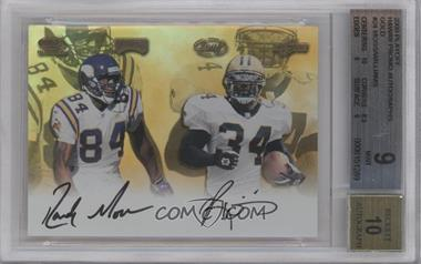 2000 Playoff Autographs - Hawaii Trade Conference [Base] - Gold [Autographed] #24 - Randy Moss, Ricky Williams /1 [BGS 9]