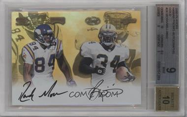 2000 Playoff Autographs - Hawaii Trade Conference [Base] - Gold [Autographed] #24 - Randy Moss, Ricky Williams /1 [BGS9]