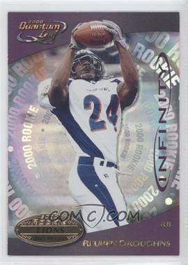 2000 Quantum Leaf - [Base] - Infinity Purple #337 - Reuben Droughns /15