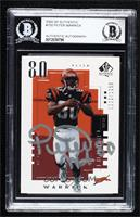 Peter Warrick [BAS Certified BAS Encased] #/1,250