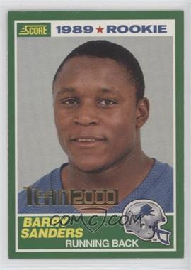 2000 Score - Team 2000 #TM01 - Barry Sanders /1989