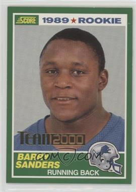 2000 Score - Team 2000 #TM01 - Barry Sanders /1989