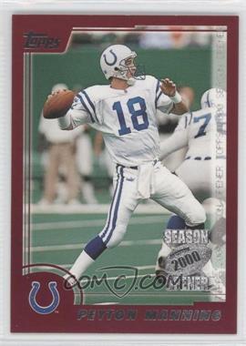 2000 Topps Season Opener - [Base] #117 - Peyton Manning
