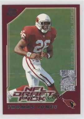 2000 Topps Season Opener - [Base] #203 - Thomas Jones