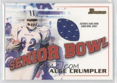 2001 Bowman - Rookie Jerseys #BJ-AC - Alge Crumpler