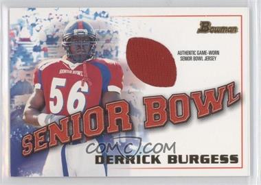2001 Bowman - Rookie Jerseys #BJ-DBU - Derrick Burgess