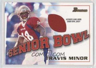 2001 Bowman - Rookie Jerseys #BJ-TM - Travis Minor
