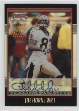 2001 Bowman Chrome - Rookie Autographs #BC-JHO - Joe Horn