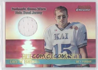 2001 Bowman Chrome - Senior Bowl Jerseys #BCR-DB - Drew Brees