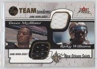 Deuce McAllister, Ricky Williams /50