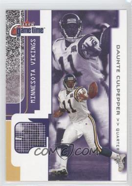 2001 Fleer Game Time - [Base] #103 - Daunte Culpepper