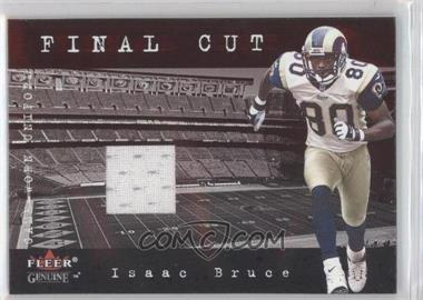 2001 Fleer Genuine - Final Cut Jerseys #ISBR - Isaac Bruce