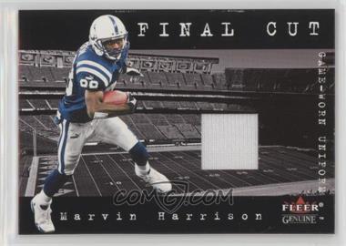 2001 Fleer Genuine - Final Cut Jerseys #MAHA - Marvin Harrison