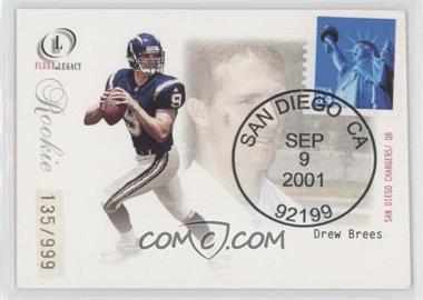 2001 Fleer Legacy - [Base] - Rookie Postmarks #95 - Drew Brees /999