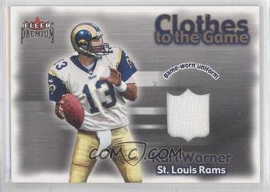 2001 Fleer Premium - Clothes to the Game #KUWA - Kurt Warner