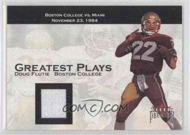2001 Fleer Premium - Greatest Plays - Jerseys [Memorabilia] #N/A - Doug Flutie