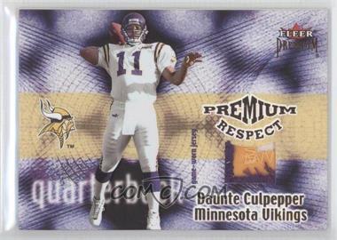 2001 Fleer Premium - Premium Respect Jerseys #N/A - Daunte Culpepper /80
